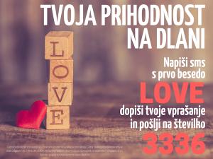vedeževanje sms LOVE na 3336
